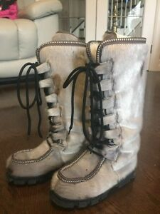 Girls Seal Skin Boots