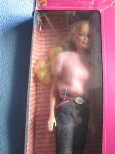 1981 Vintage Fashion Jeans Barbie complete with Jewelry,  Mattel