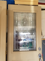 entrance double door with glass insert