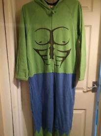 Men's Hulk onesie