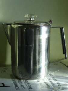 9 cups stainless steel coffee pot