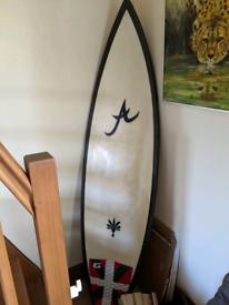 Surfboard, Aloha AF1 6'1 Tour Pro Shortboard W/ Carbon Rails