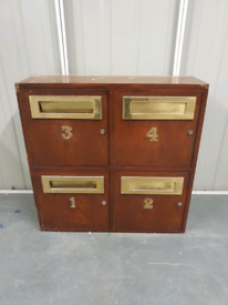For sale old letter boxes with brass fittings