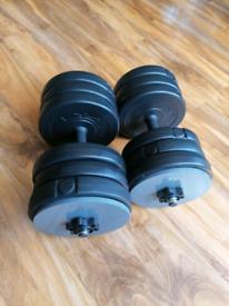 41kg dumbells set