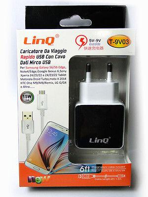 Cargador de Red Carga Rápida Universal USB 3A 15W 5V-9V para Smartphone...
