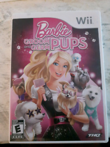 Barbie Groom and Glam Pups Wii game