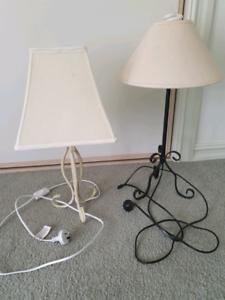 Two lamps shabby chic style Bendigo Bendigo City Preview