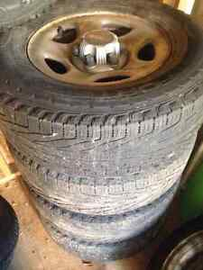 4 used gmc truck tires with some life left Cambridge Kitchener Area image 3
