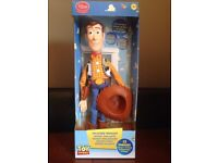 Toy story talking woody says 15 phrases, new batteries, box