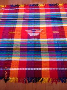 """Beautiful Brand New Handwoven Mexican Tablecloth - 62"""" by 54"""""""