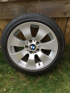 BMW Winter Tires (4 with rims) 225-45-R17 (great condition) London Ontario image 2