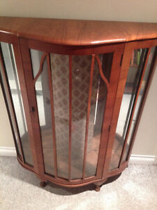 Antique China Cabinet with mirrored back