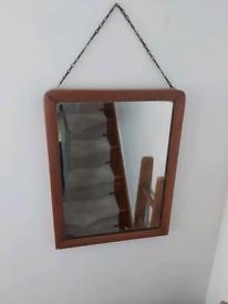 Antique Edwardian Pine Mirror