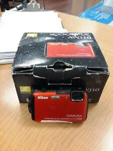*** USED *** NIKON COOLPIX AW110 CAMERA   S/N:51108921AA   #STORE306