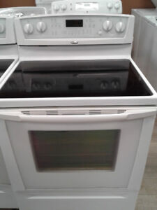 stove whirlpool convection white glass top 30""