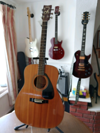 Yamaha FG410A with the Hiscox case