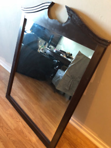 Big, Dark Cherry Mirror for Sale (Decor)