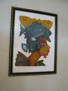 orignial unique picture - framed  *** Price  drop