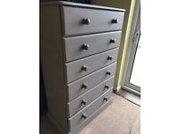 Up Cycled Solid Pine Large Chest of Drawers (Can Deliver)