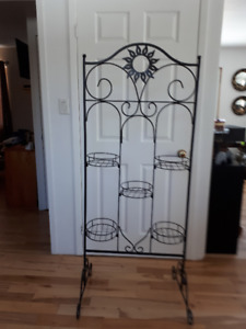 wrought iron tiered planter for plants or fresh herbs