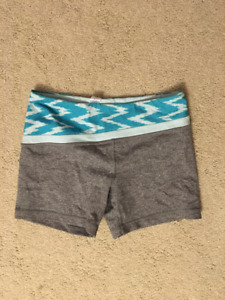 Ivivva Girl's Shorts (Teal and Grey)