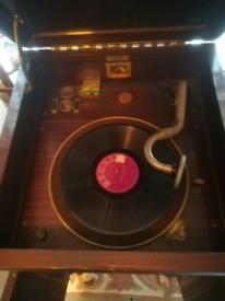 His Master's Voice HMV Gramophone Model 156 Working 1920s Antique