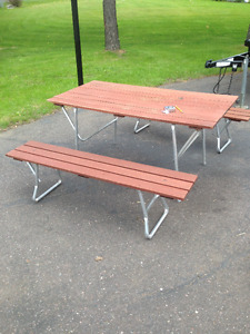Vintage Portable Picnic Table and Benches