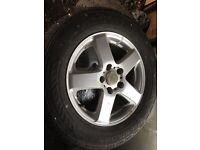 Nissan alloy wheels from elgrand fit most nissans tyres 235 60 16 all legal
