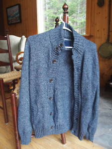 Blue cardigan from the french brand BRICE