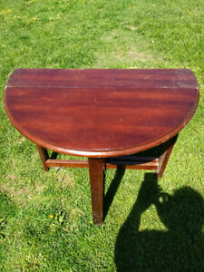 hardwood folding table