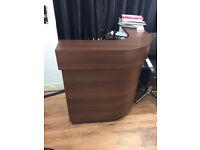 Salon/office reception desk brown