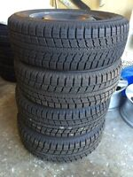 195/65/15 Toyo GSI-5 winter tires on steel wheels