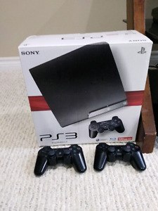 PS3 Slim 120GB +2 Controllers and Games (Full Bundle)