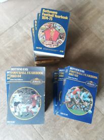 11 x Rothmans Football Yearbooks from 1974-1988