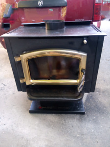 Large wood Stove with brass door