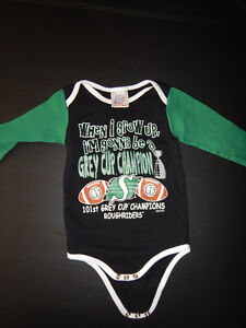Saskatchewan RoughRiders Infant Clothing (ALL 3 for $4)