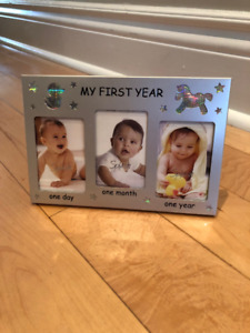 3 Baby Picture Frames - NEW