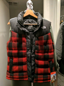 North Face Plaid Down Vest (limited edition)
