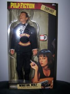 "Pulp Fiction 13"" Winston Wolf Talking Action Figure"