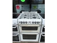 NEWHOME 60CM ALL GAS COOKER IN WHITE WITH LID. H