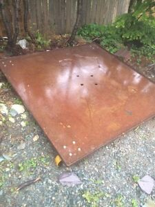 Steel plate on casters St. John's Newfoundland image 1