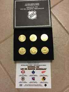 "NHL Boxed Set of the ""Original Six"" Bronze Medallions"