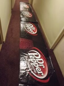 2 GIANT SIZE DR.PEPPER VINYL BANNERS USED @ 2015 CNE HONDA INDY