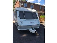 Elddis typhoon Gtx 4 berth touring caravan with full pyramid awning