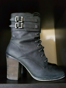 Chinese Laundry Leather Boots*Goth*Steampunk*