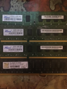 RAM Available - PC12800 DDR3 1600 Memory