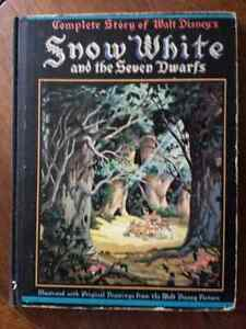 1937 Snow White And The Seven Dwarfs With Color Drawings Kitchener / Waterloo Kitchener Area image 1