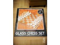 GLASS CHESS SET can post