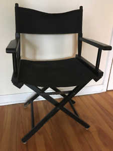 Two Black & Canvas Director Chairs
