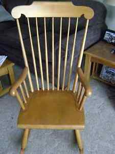 Wooden Rocking chair Peterborough Peterborough Area image 1